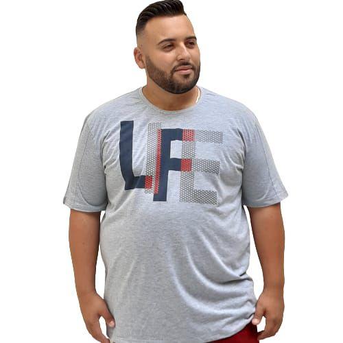 Camiseta Plus Size Masculina  Bigmen Life