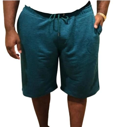 Bermuda  Moletom Colors Prime  Masculina Plus size