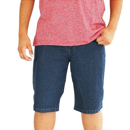 Bermuda Masculina Plus Size Jeans Azul