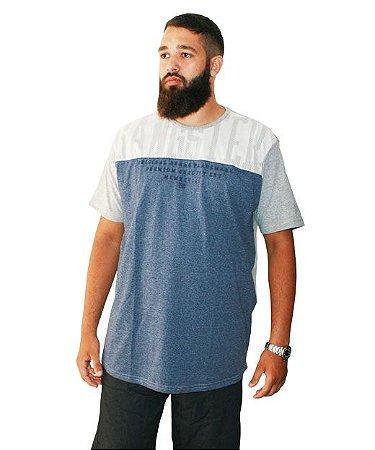 Camiseta Plus Size Masculina Long Line Gangster