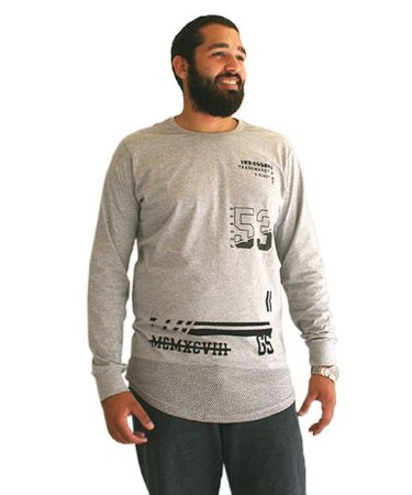 Camiseta Swag Gangster Plus Size Masculina Long Line