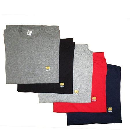 Kit 5 Camisetas Plus Size Bigmen Multicolorido