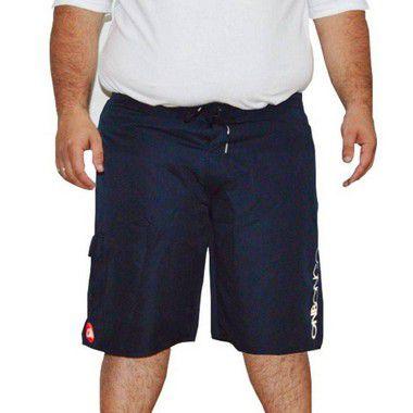 Bermuda D'água Masculina Plus Size Surfwear Onbongo Azul
