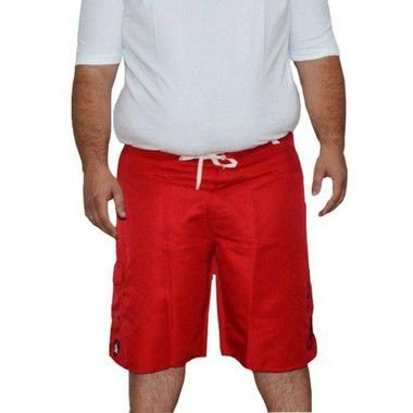 Bermuda D'água Masculina Plus Size Surfwear Onbongo Vermelha
