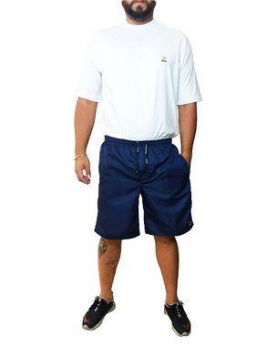Bermuda Masculina Plus Size Cós Elástico Tactel Volver Azul