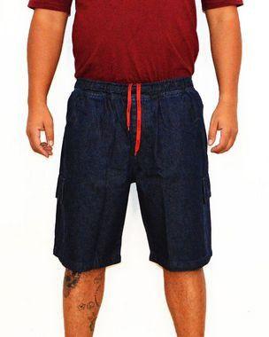 Bermuda Plus Size Masculina Jeans Cos Elastico Oncross Azul