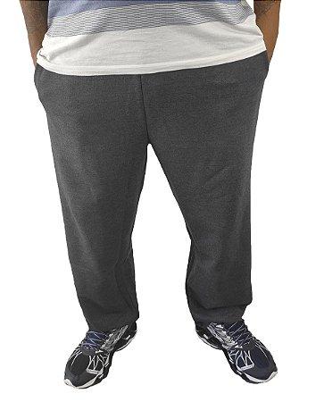 Calça Plus Size Masculina Moletom Bigmen Azul Chumbo