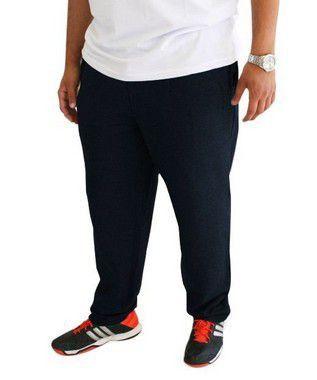 Calça Plus Size Masculina Moletom BigMen Preta