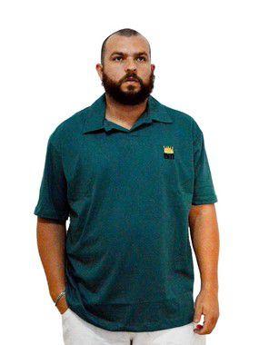 Camisa Polo Plus Size Masculina Bigmen Verde
