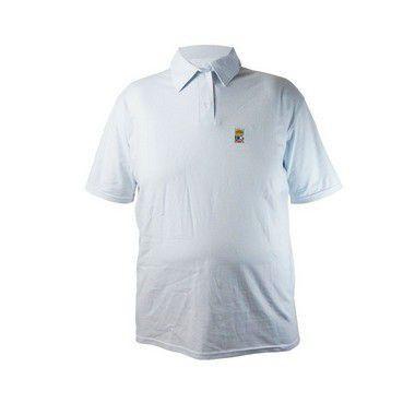 Camisa Polo Plus Size Masculina Modelo Bigmen Branca