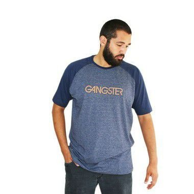 Camiseta Masculina Plus Size New York Azul