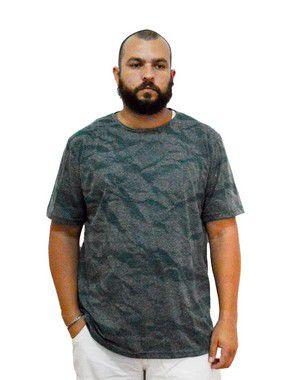 Camiseta Plus Size Masculina Austin Life Estampada Verde