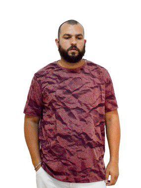 Camiseta Plus Size Masculina Austin Life Estampada Vermelha