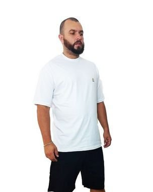 Camiseta Plus Size Masculina Bigmen Branca