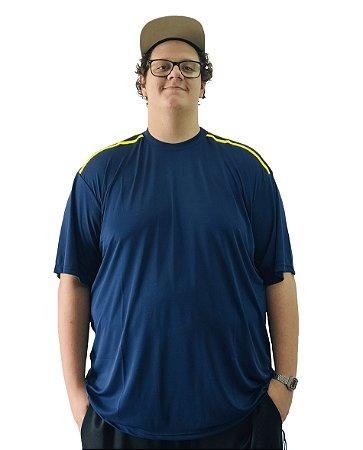 Camiseta Plus Size Masculina Bigmen Dry Fit Azul