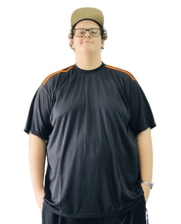 Camiseta Plus Size Masculina Bigmen Dry Fit Preta