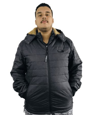 Jaqueta Plus Size Masculina Gangster Cinza