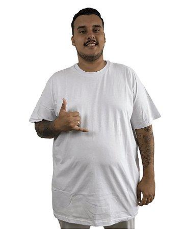 Camiseta Plus Size Masculina Bigmen Lisa Branca