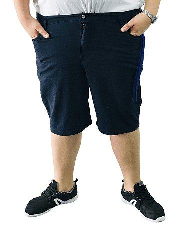 Bermuda Masculina Plus Size Colors Azul