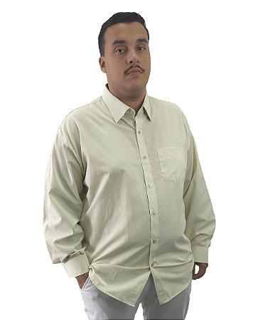 Camisa Social Plus Size Masculina Manga Longa Gelo