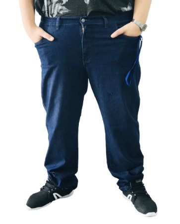 Calça Masculina Plus Size Jeans Azul
