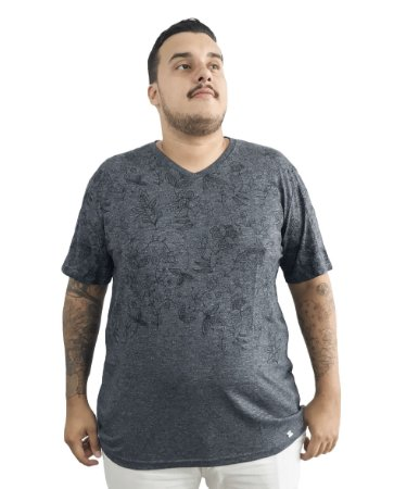 Camiseta Plus Size Masculina Air Waves Cinza