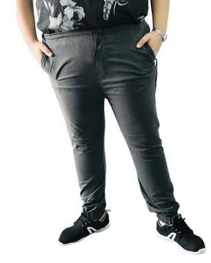 Calça Masculina Plus Size Jogger Cinza