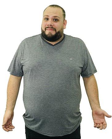Camiseta Plus Size Masculina Gangster Cinza