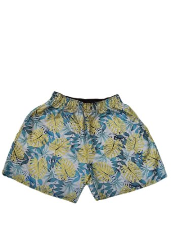 Short Praia Folha Masculino Plus Size
