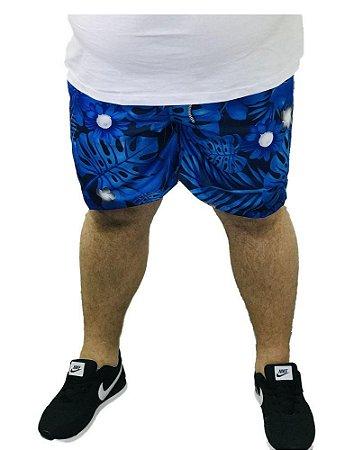 Bermuda de Banho Azul Masculina Plus Size I08
