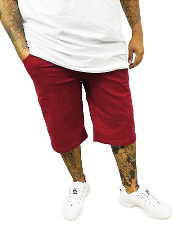 Bermuda Masculina Plus Size Gangster Vinho