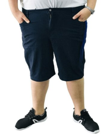 Bermuda Masculina Plus Size Colors Azul