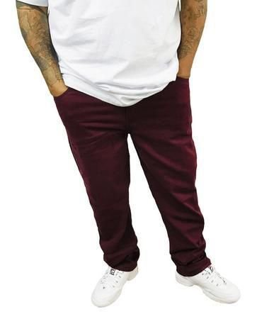 Calça Elástano Sarja Masculina Plus Size  Marsala