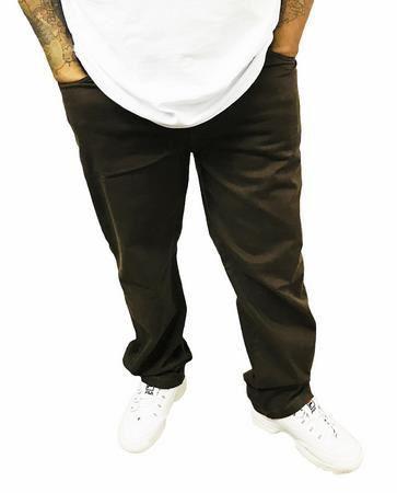 Calça  Elástano Sarja Masculina Plus Size  Brown