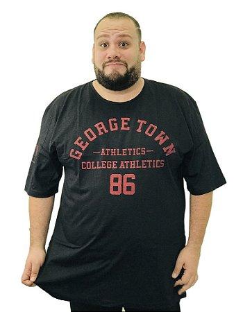 Camiseta Plus Size Masculina Austin Life George Town Preta A03