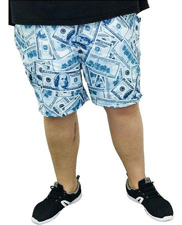 Bermuda Estamapada Dólar Plus Size Masculina