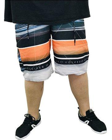 Bermuda D'água Masculina Plus Size Surfwear Volver