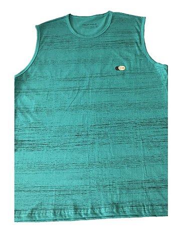 Camiseta Regata Plus Size Masculina Verde Machão  B08