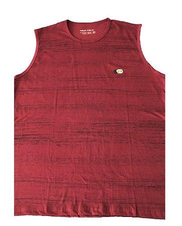 Camiseta Regata Plus Size Masculina Vermelha