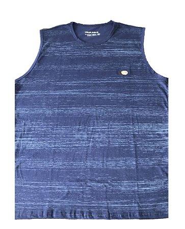 Camiseta Regata Plus Size Masculina Azul