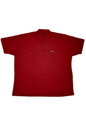 Camisa Polo Masculina Plus Size Kairon Algodão Bordô