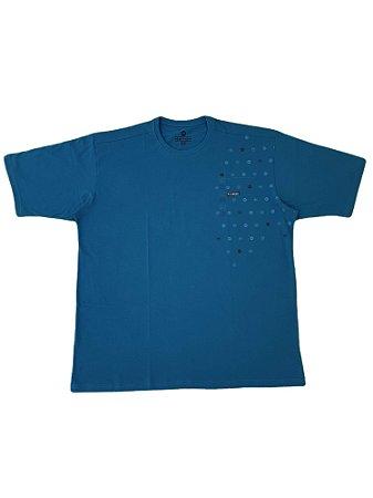 Camiseta Plus size Masculina Algodão Kairon Verde Detalhes