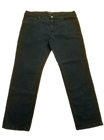 Calça Masculina Plus Size Jeans Básica Verde Musgo Shyros/Bigmen