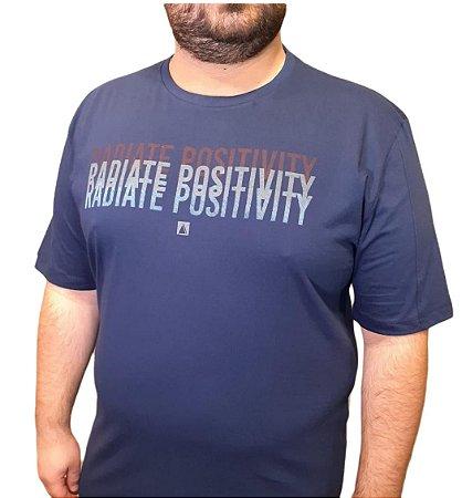 Camiseta Plus Size Masculina Austin Life Radiate Positivity