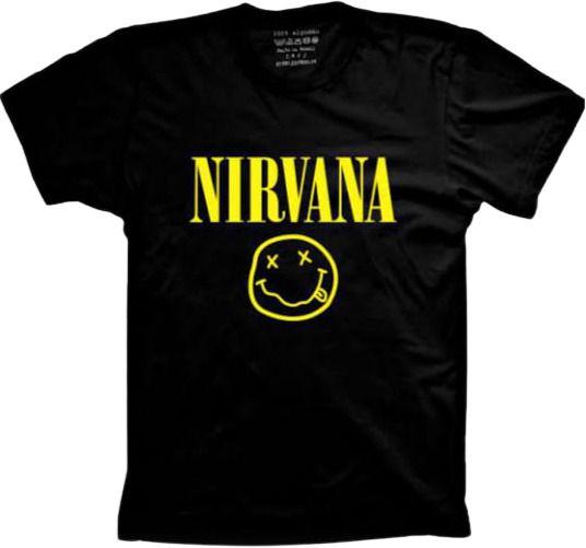 Camiseta Plus Size Masculina Bandas Favoritas Nirvana