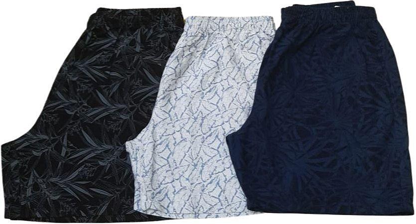 Bermuda Elástico Sarja Estampada Masculina Plus size Passeio