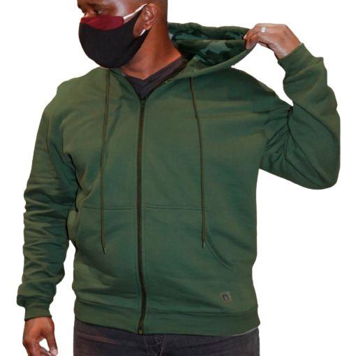 Blusa Plus Size Masculina Moletom Verde Bigmen
