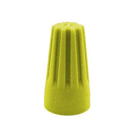 Conector Torção Amarelo 100 Pçs