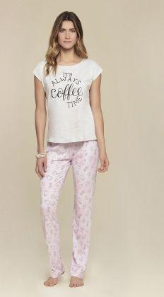 Pijama Manga Curta Cor Com Amor
