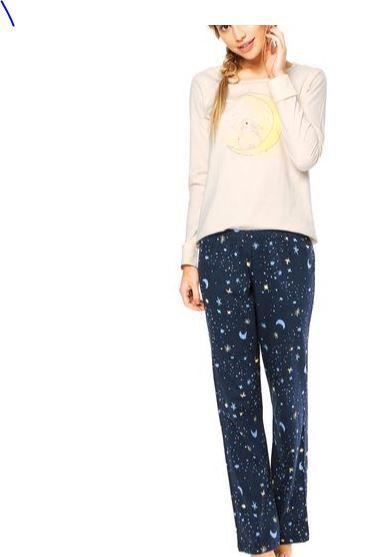 Pijama manga longa Cor com Amor